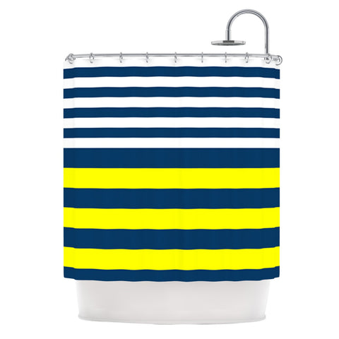 "Trebam ""Nauticki"" Yellow Navy Shower Curtain - KESS InHouse"