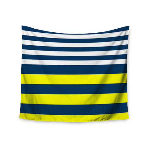 "Trebam ""Nauticki"" Yellow Navy Wall Tapestry - KESS InHouse  - 1"