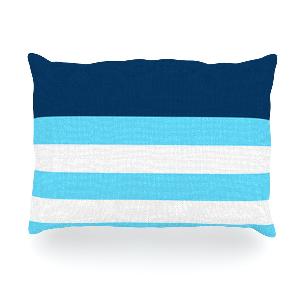 "Trebam ""Nauticki Blue"" Aqua Oblong Pillow - KESS InHouse"