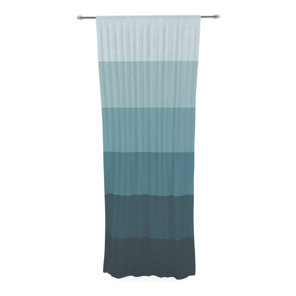 "Trebam ""Cijan"" Navy Teal Decorative Sheer Curtain - KESS InHouse"