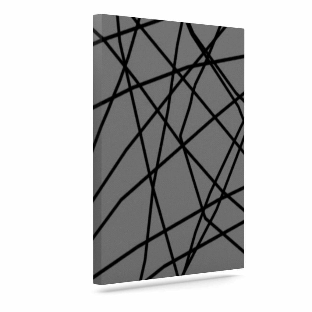"Trebam ""Paucina v2"" Gray Black Canvas Art - KESS InHouse  - 1"