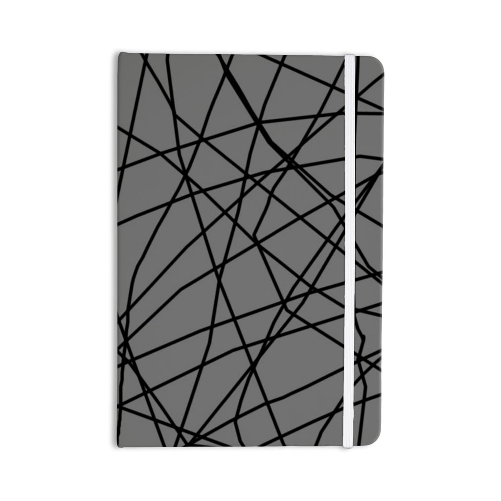 "Trebam ""Paucina v2"" Gray Black Everything Notebook - KESS InHouse  - 1"