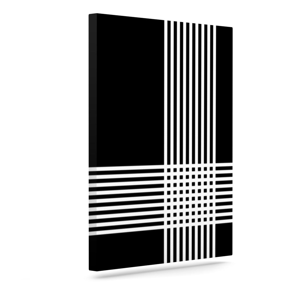"Trebam ""Krizanje v2"" White Black Canvas Art"