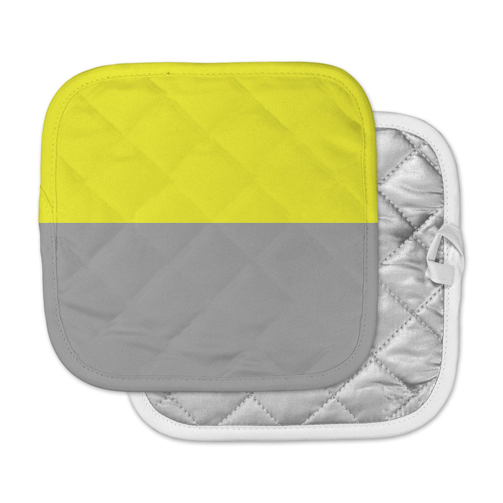 "Trebam ""Polovina V.5"" Yellow Gray Pot Holder"