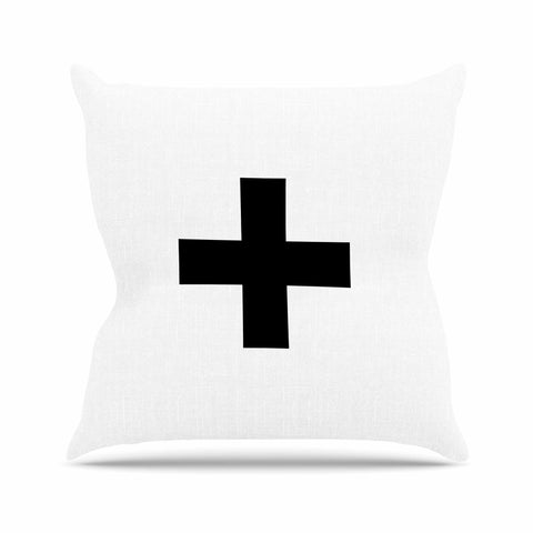 "Trebam ""Plus V.2"" Outdoor Throw Pillow - Outlet Item"
