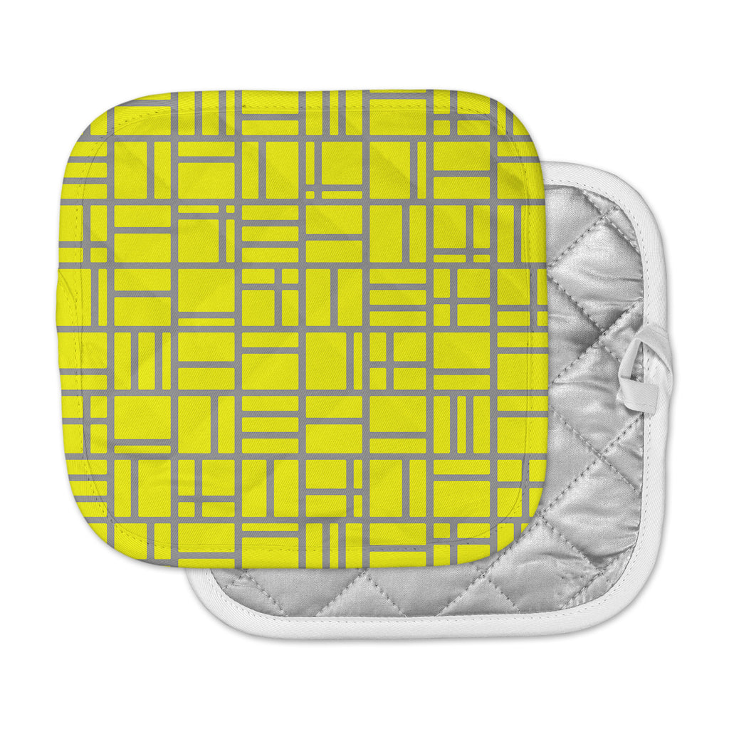 "Trebam ""Kutije V.4"" Yellow Gray Pot Holder"