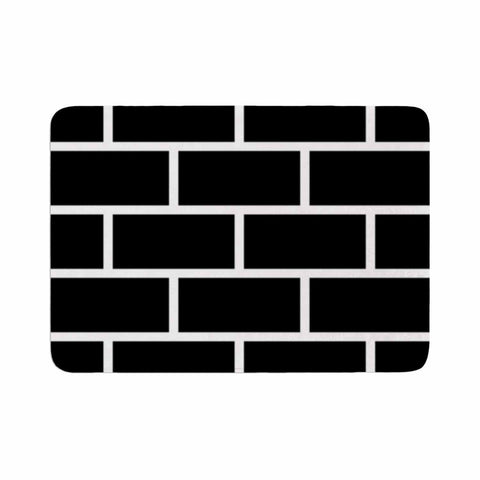 "Trebam ""Opeke"" Black Digital Memory Foam Bath Mat - KESS InHouse"