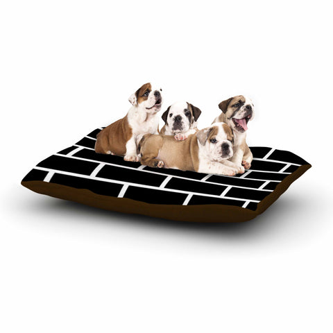 "Trebam ""Opeke"" Black Digital Dog Bed - KESS InHouse  - 1"