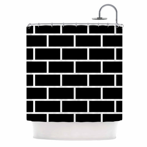 "Trebam ""Opeke"" Black Digital Shower Curtain - KESS InHouse"