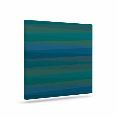 "Trebam ""Trokuti V.2"" Green Blue Canvas Art - KESS InHouse  - 1"