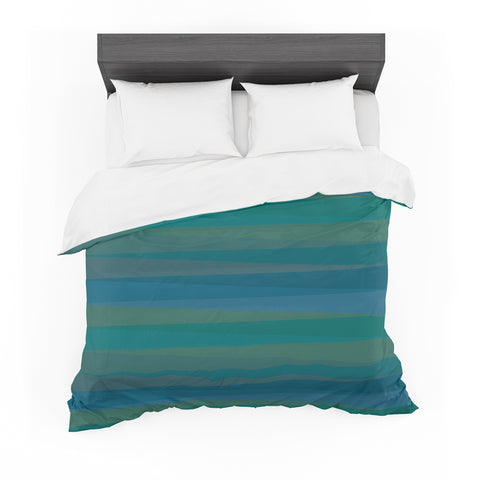"Trebam ""Trokuti V.2"" Green Blue Featherweight Duvet Cover"