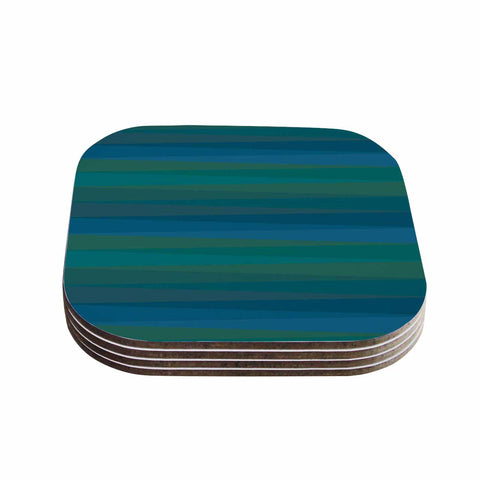 "Trebam ""Trokuti V.2"" Green Blue Coasters (Set of 4)"