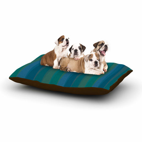 "Trebam ""Trokuti V.2"" Green Blue Dog Bed - KESS InHouse  - 1"