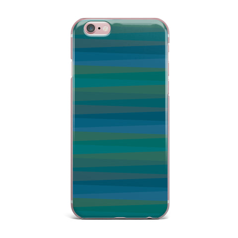 "Trebam ""Trokuti V.2"" Green Blue iPhone Case - KESS InHouse"
