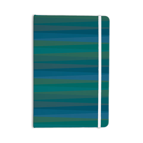 "Trebam ""Trokuti V.2"" Green Blue Everything Notebook - KESS InHouse  - 1"