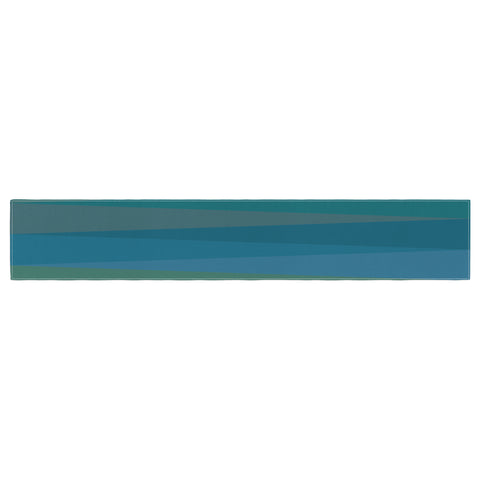 "Trebam ""Trokuti V.2"" Green Blue Table Runner - KESS InHouse  - 1"
