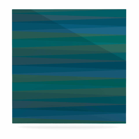 "Trebam ""Trokuti V.2"" Green Blue Luxe Square Panel - KESS InHouse  - 1"