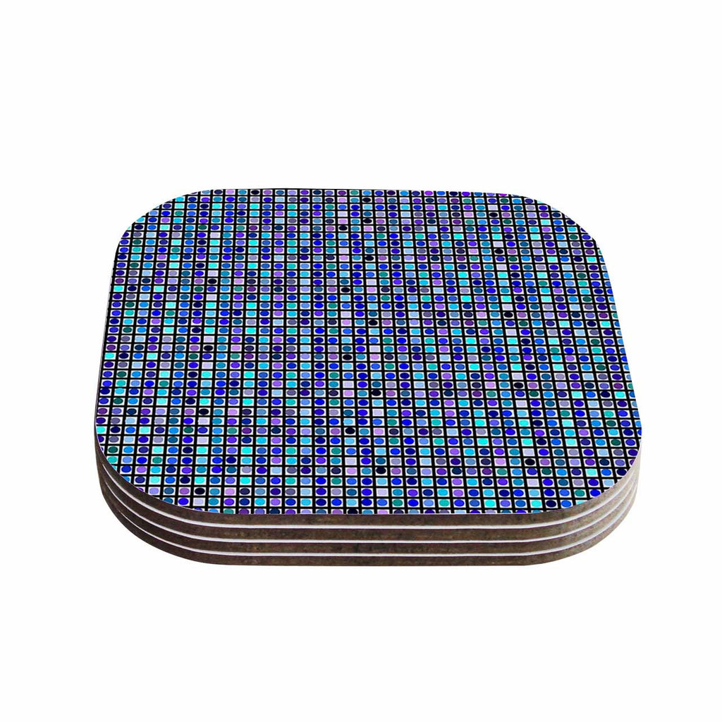 "Trebam ""Mozaik"" Blue Purple Coasters (Set of 4)"