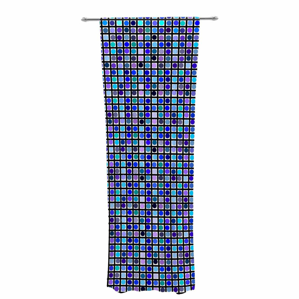 "Trebam ""Mozaik"" Blue Purple Decorative Sheer Curtain - KESS InHouse  - 1"