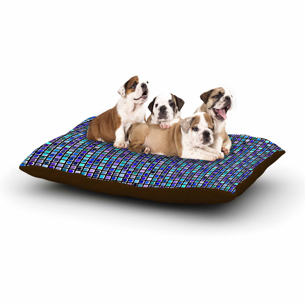 "Trebam ""Mozaik"" Blue Purple Dog Bed - KESS InHouse  - 1"