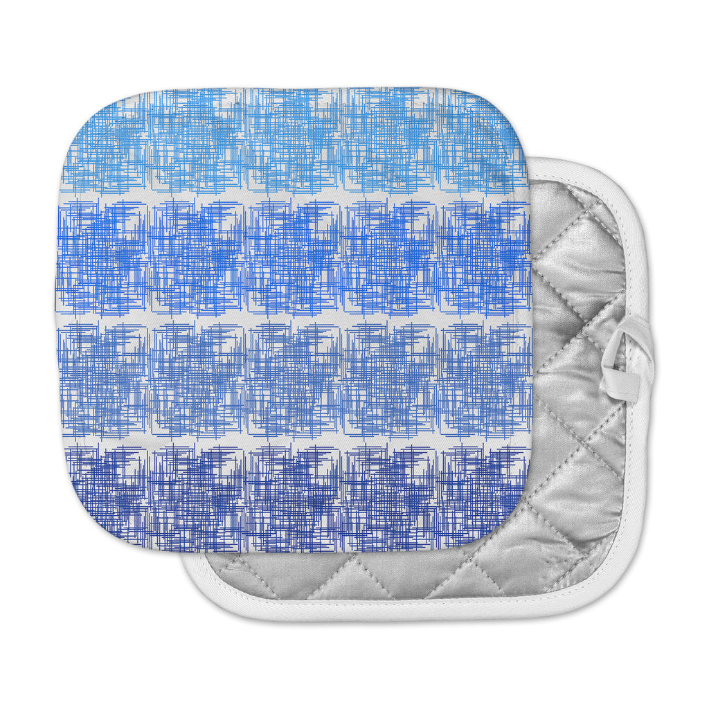 "Trebam ""Visina V.3 "" Blue White Pot Holder"