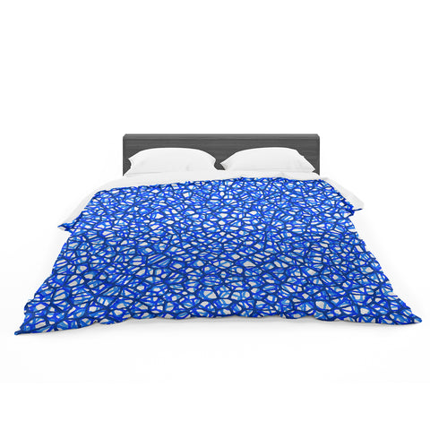 "Trebam ""Staklo (Blue)"" Blue White Digital Featherweight Duvet Cover"