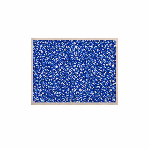 "Trebam ""Staklo (Blue)"" Blue White Digital KESS Naturals Canvas (Frame not Included)"