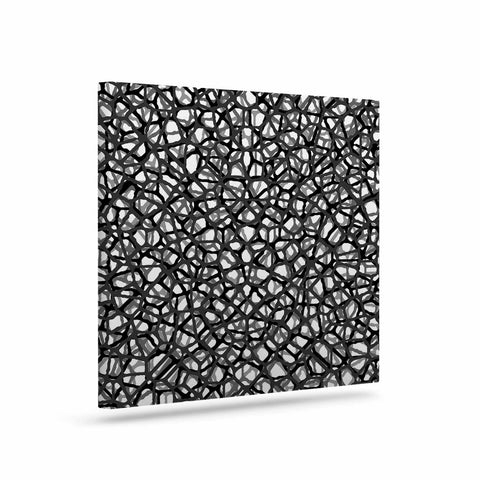 "Trebam ""Staklo (Grays)"" Black Gray Digital Canvas Art - KESS InHouse  - 1"