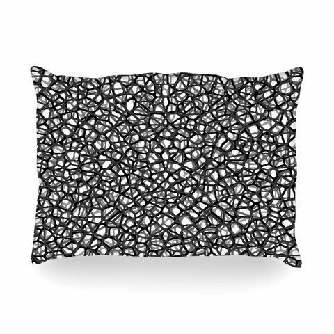 "Trebam ""Staklo (Grays)"" Black Gray Digital Oblong Pillow - KESS InHouse"