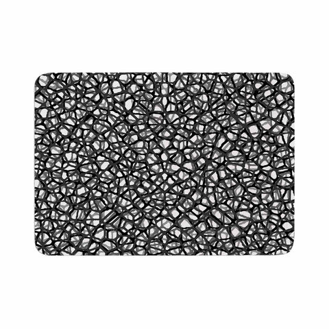 "Trebam ""Staklo (Grays)"" Black Gray Digital Memory Foam Bath Mat - KESS InHouse"