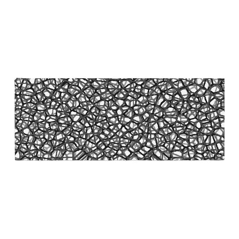 "Trebam ""Staklo (Grays)"" Black Gray Digital Bed Runner - KESS InHouse  - 1"