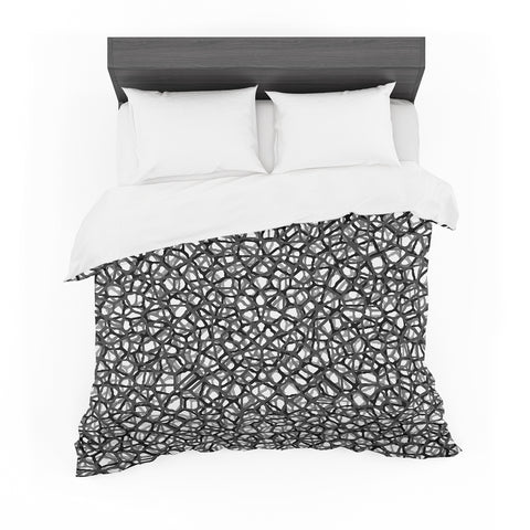 "Trebam ""Staklo (Grays)"" Black Gray Digital Featherweight Duvet Cover"
