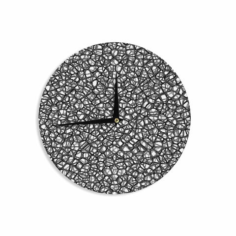"Trebam ""Staklo (Grays)"" Black Gray Digital Wall Clock - KESS InHouse"
