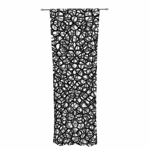 "Trebam ""Staklo (Grays)"" Black Gray Digital Decorative Sheer Curtain - KESS InHouse  - 1"