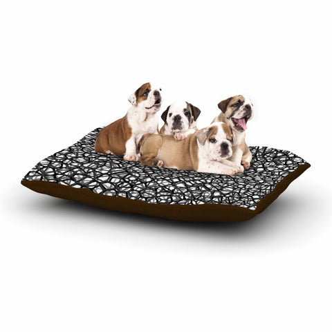 "Trebam ""Staklo (Grays)"" Black Gray Digital Dog Bed"