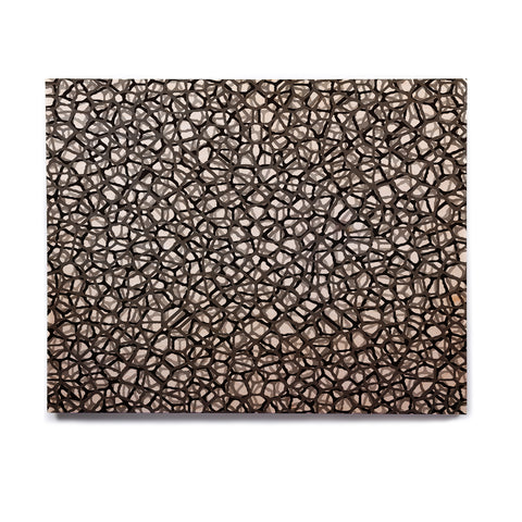 "Trebam ""Staklo (Grays)"" Black Gray Digital Birchwood Wall Art - KESS InHouse  - 1"