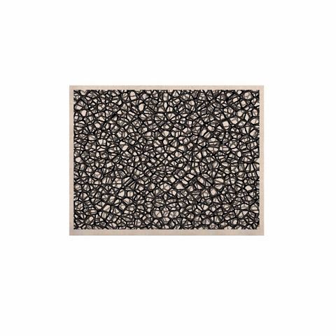 "Trebam ""Staklo (Grays)"" Black Gray Digital KESS Naturals Canvas (Frame not Included) - KESS InHouse  - 1"