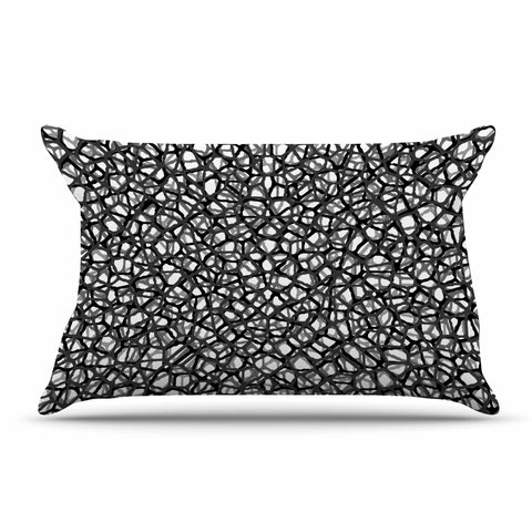 "Trebam ""Staklo (Grays)"" Black Gray Digital Pillow Sham - KESS InHouse  - 1"