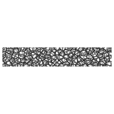 "Trebam ""Staklo (Grays)"" Black Gray Digital Table Runner - KESS InHouse  - 1"
