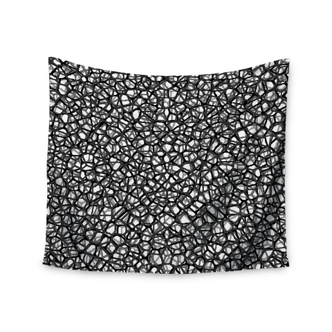 "Trebam ""Staklo (Grays)"" Black Gray Digital Wall Tapestry - KESS InHouse  - 1"