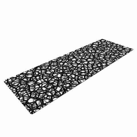"Trebam ""Staklo (Grays)"" Black Gray Digital Yoga Mat - KESS InHouse  - 1"