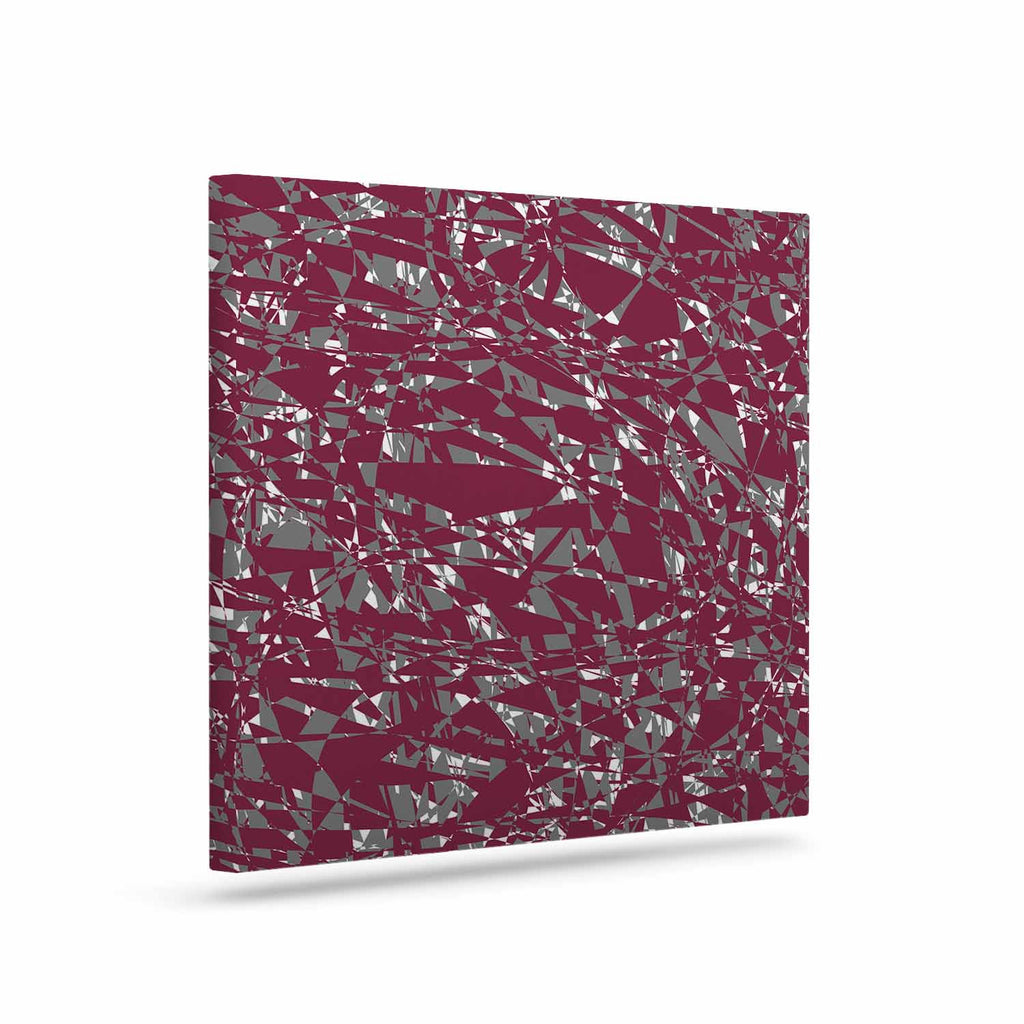 "Trebam ""Nenadan V2"" Maroon Gray Modern Vector Canvas Art"