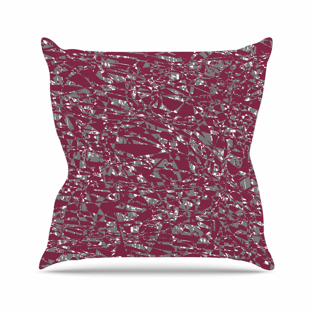 "Trebam ""Nenadan V2"" Maroon Gray Modern Vector Outdoor Throw Pillow"