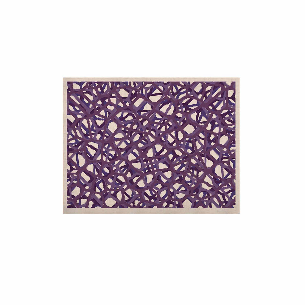 "Trebam ""Vino"" Purple White Modern Vector KESS Naturals Canvas (Frame not Included)"