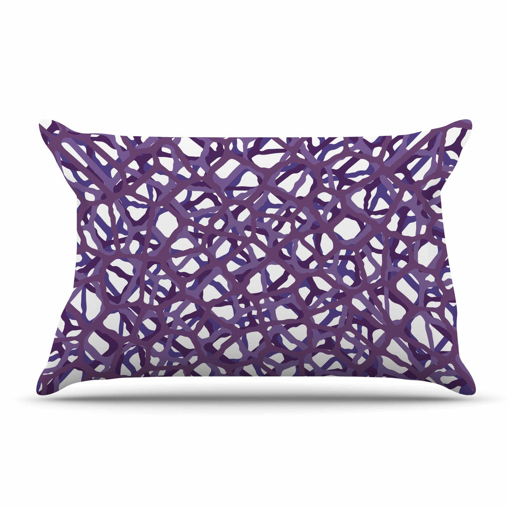 "Trebam ""Vino"" Purple White Modern Vector Pillow Sham"