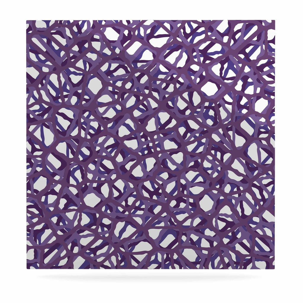 "Trebam ""Vino"" Purple White Modern Vector Luxe Square Panel"