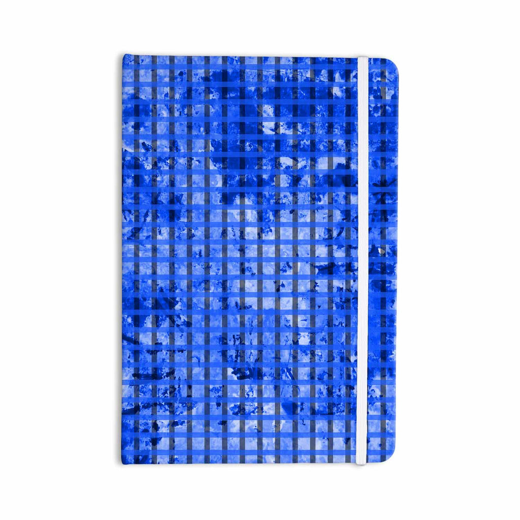 "Trebam ""Plavet"" Black Blue Modern Vector Everything Notebook - KESS InHouse  - 1"