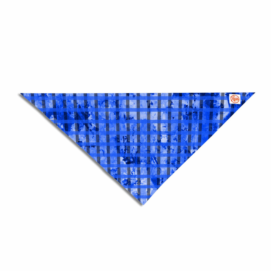 "Trebam ""Plavet"" Black Blue Modern Vector Pet Bandana"