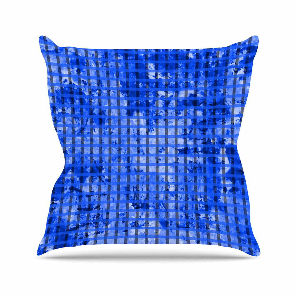 "Trebam ""Plavet"" Black Blue Modern Vector Throw Pillow"
