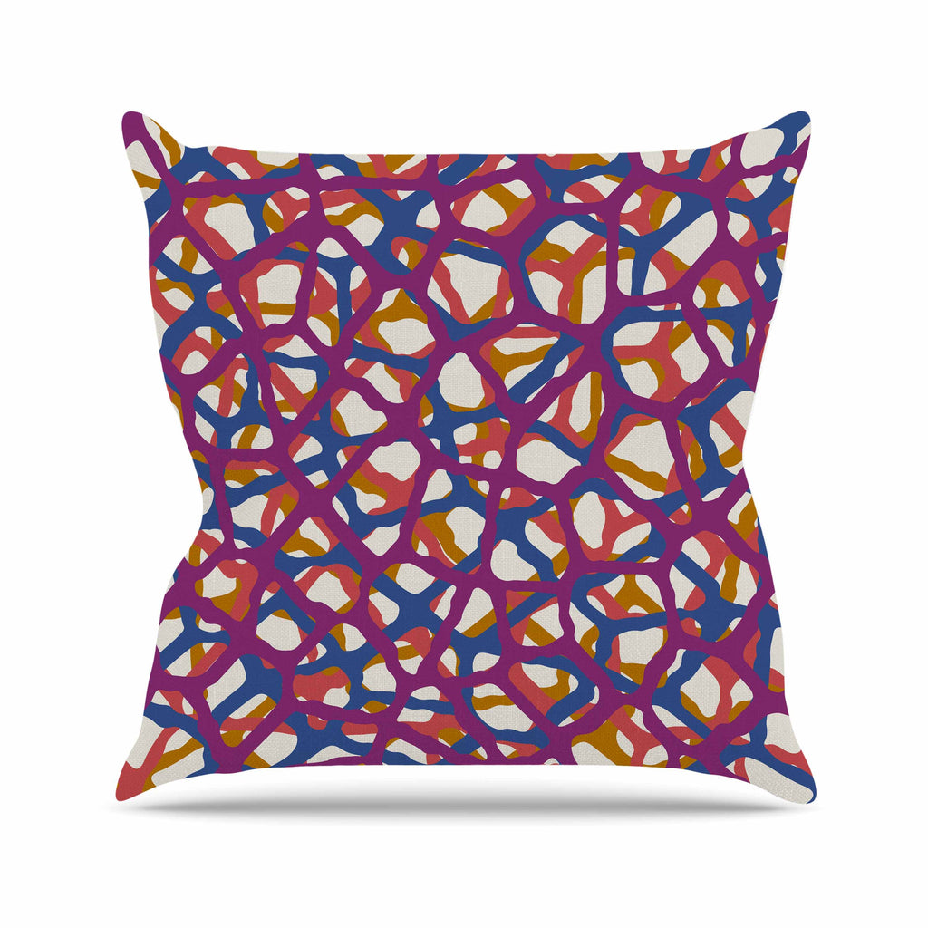 "Trebam ""Staklen"" Beige Multicolor Modern Vector Throw Pillow"